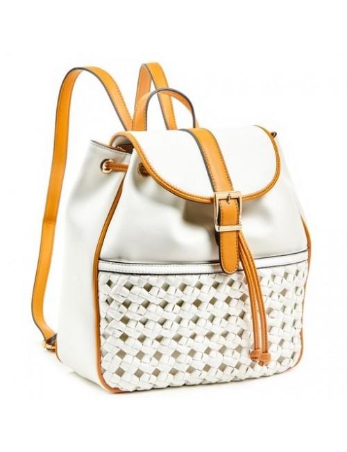 Τσάντα πλάτης γυναικεία Verde 16-6038-Ivory